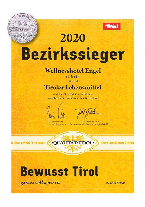 Bewusst Tirol Bezirkssieger 2020