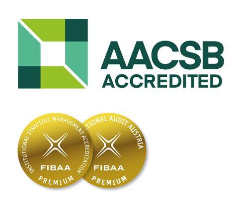 AACSB Akkreditierung + FIBAA Premium-Siegel
