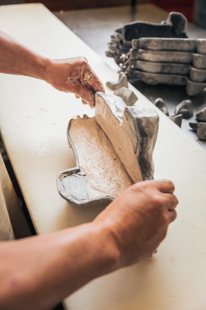 Handarbeit-in-Produktion